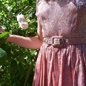 Pretty In Pink Dress with Matching Belt